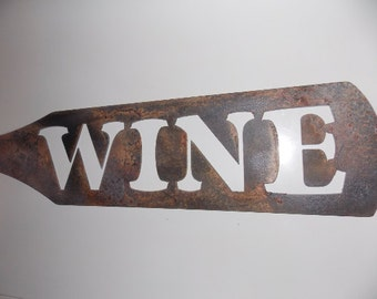 Large Wine Bottle Shaped Metal Sign Art Home Decor Wall Art Kitchen  Decoration Wall Hanging Industrial