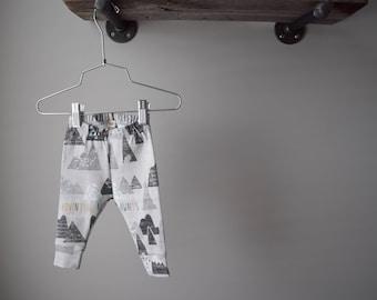 100% Organic Cotton Baby/Tot Cuffed Leggings, Adventure Awaits