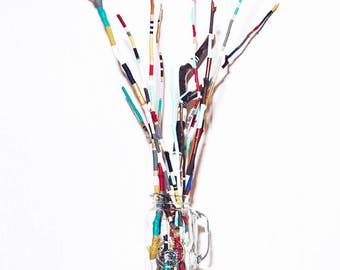 Boho Twig Bouquet // Home Decor // Painted Sticks