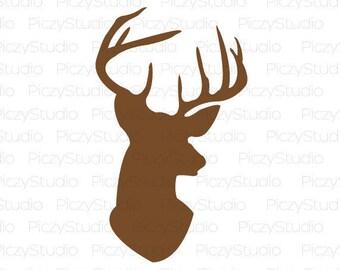 80% OFF Sale Deer head svg, Deer SVG, Svg Files, Silhouette Files, Svg Instant Download, Svg Design File, Southern svg, Hunting Svg,