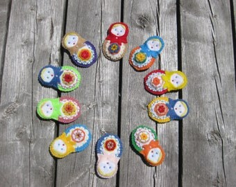 Matrioshka Brooche