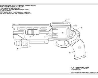 Destiny: Fatebringer Schematic Drawing