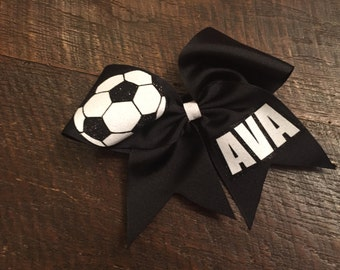 Soccer Cheer Bow, Personalized