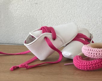 Babybooties, White Leather baby shoes, baby shoes