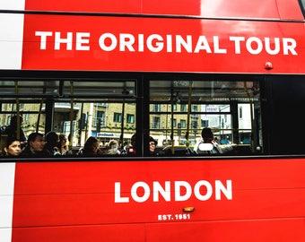 London photography, London street photography, London prints, fine art photography, London photos, Wall art, Home decor, Bus, British