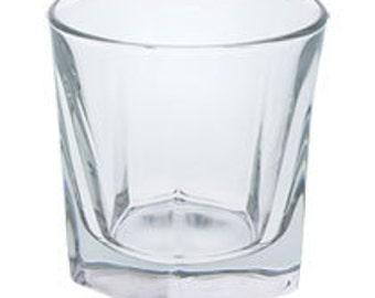 Faceted Bourbon Glass