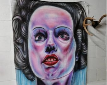 bride of frankenstein portrait mural
