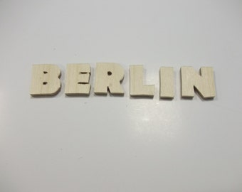 2cm Wooden Letter Embellishments - Berlin font - Plain Birch Plywood