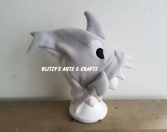 Shark fleece hat