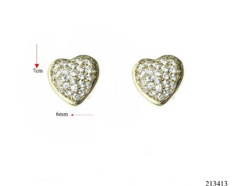 Vintage earrings goldfield 3 micro. jewelry with great care.zircon aaa stons Amazing earrings for every occasion
