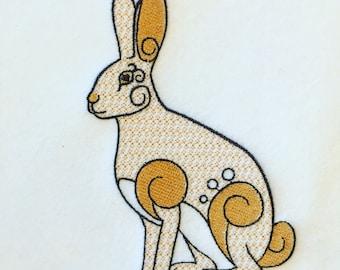 Machine Embroidery Design - Ornamental Hare