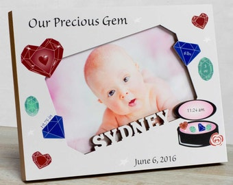 Personalized Baby Picture Frame, Baby Girl Picture Frame, Picture Frame Baby Girl, Baby Girl Frames, Baby Frame For Girls, Girl Baby Frame