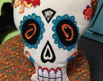 Day of the Dead Hand Sewn Pillow