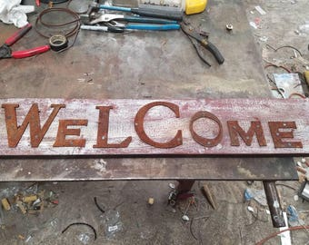 Rustic Barnwood Welcome Sign Rustic Wall Decor Home Decor