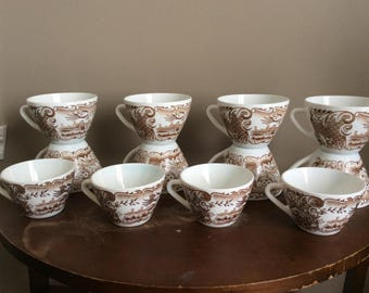Set of 12 cups Rivanel Made in France