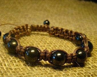 "Bracelet Shungite ""Shambala"" from the beads 12 mm. from Karelia."
