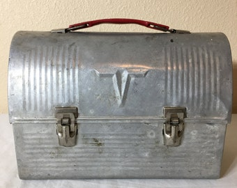 Vintage aluminum Thermos lunch box