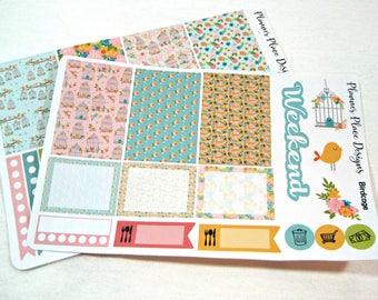 Planner Stickers - Weekly Planner Stickers - Happy Planner Stickers - Day Designer - Functional Stickers - Birdcage Stickers