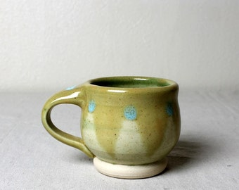 Stoneware Spring Mug Handmade Pottery