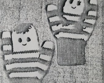 Boy & Girl Vintage Mittens Pattern