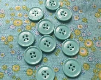 11 vintage aqua buttons