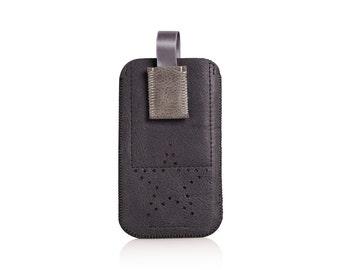 Mobile phone pocket, Smartphonehülle, black, leather wallet, iPhone 6, iPhone 6s, 7 iPhone, iPhone 7 s, Smartphone cover