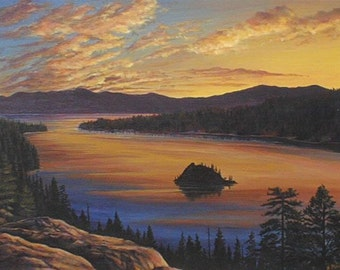 Lake Tahoe Emerald Bay - Awakening Bay - limited edition print