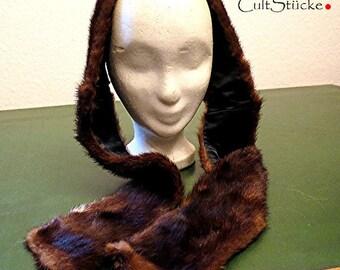 Vintage mink shawl collar