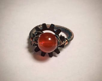 Steampunk Sun Burst ring