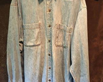 Womens Levis Strauss vintage denim Button up work shirt XL