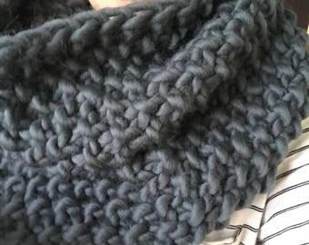 Handmade chunky knit cowl