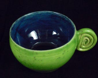Small green cappuccino cup