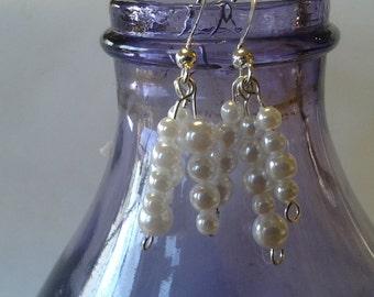 Pearl strand earrings