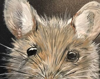 Mouse on Canvas. Acrylic. 50% to Charity
