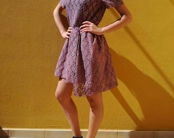 Macrame lace dress