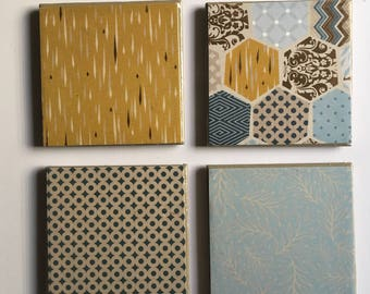 Set of 4 Handcrafted Coasters