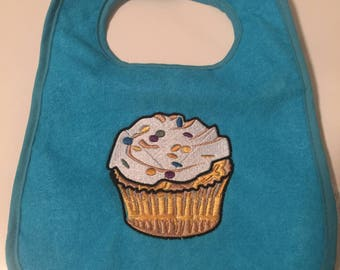 Embroidered Cupcake Bib