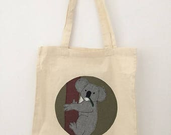 tote bag personalized animal EFGHIJK
