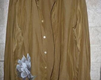 Boss Hugo Boss mens silk cotton shirt size L