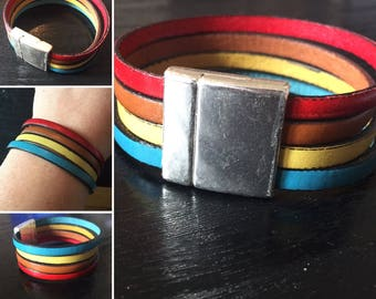 real leather strap four colors 2 cm wide