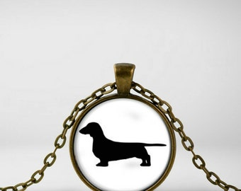Dachshund Pendant Necklace; Weiner Dog Necklace ; Personalized Gift; Dauchshund  Necklace;   Dachshund