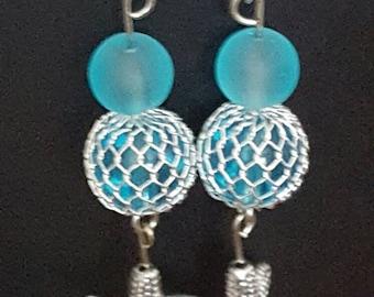 Fun dangling earrings with a beachy flair
