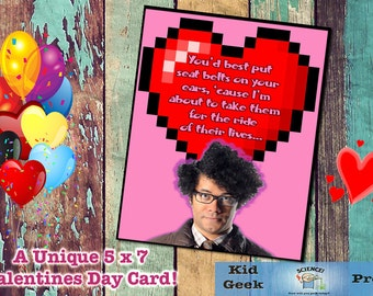 Moss from the IT Crowd Valentine's Day card!