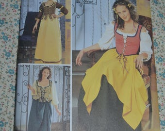 Simplicity 5582 Misses Renaissance Costumes Sewing Pattern - UNCUT  - Size 4 6 8 10