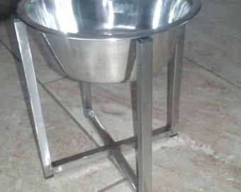 Elevated Dog Feeder,Will Last For Life Guaranteed!, 100%Stainless Steel, ANY SIZE,Unique And Solid Made.