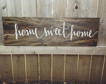 Home Sweet Home Sign, Wood Home Decor, home sweet home wood sign, Established Wood Sign, Rustic Family Sign, Farmhouse Sign