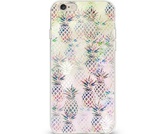 iPhone Phone Case Soft Case Pineapple Illusion