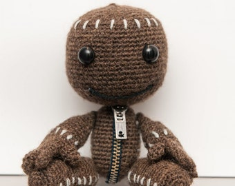 Sackboy from little big planet, geek, crochet doll crochet, my gamer