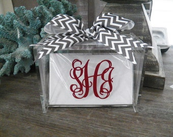 4X6 Monogrammed Recipe Box {The Organized House}