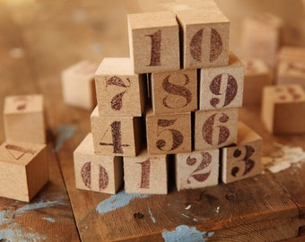 Wooden Numbers Blocks, wooden Cubes, wooden Cubes Whit Number, Educational Learning Toy, Cubes numbers, Wooden Name Blocks, blocks